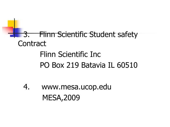3.    Flinn Scientific Student safety Contract