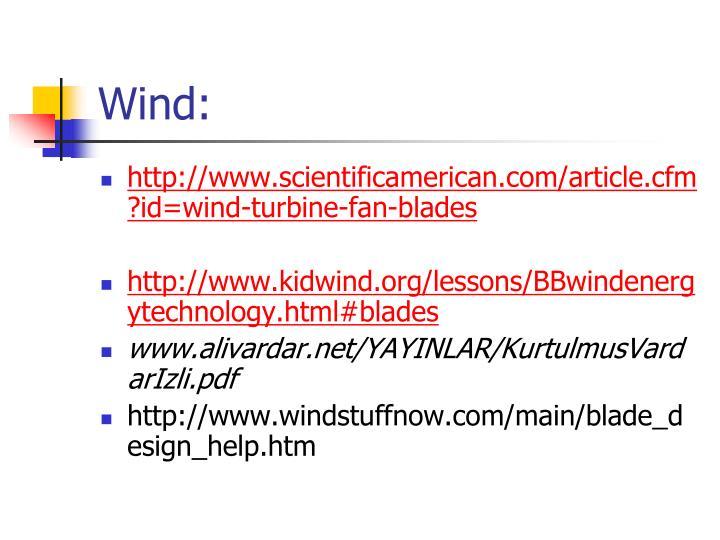 Wind: