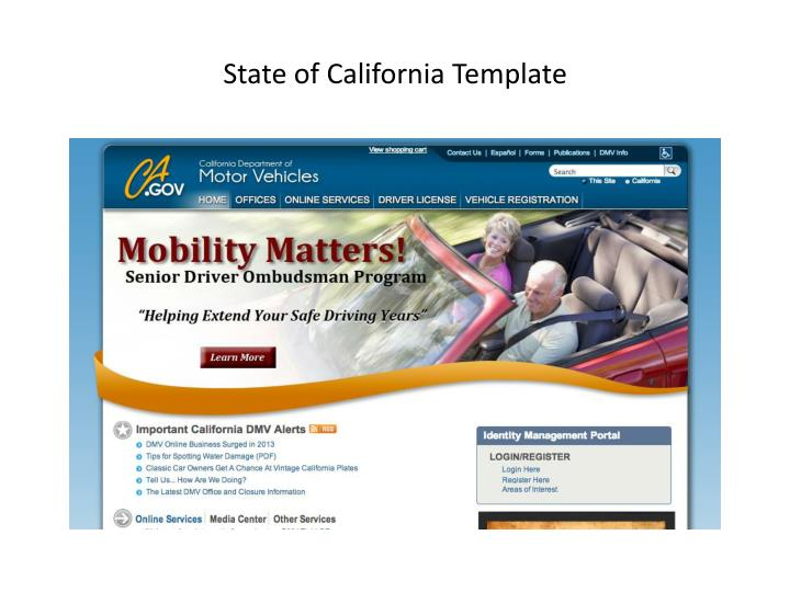 State of California Template
