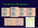 the boolean or operator