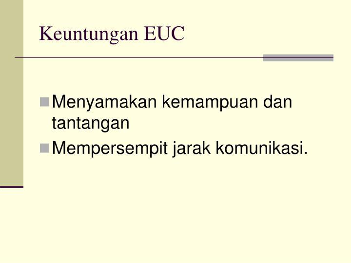 Keuntungan EUC