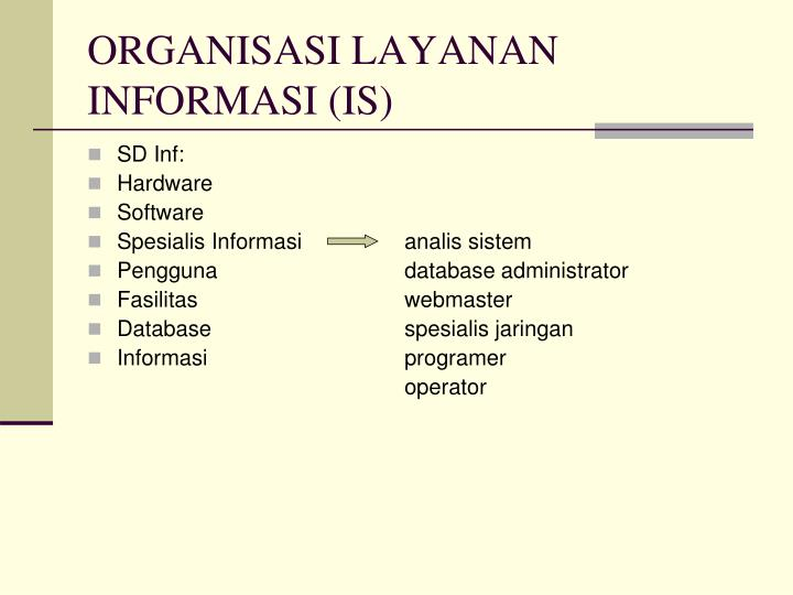 Organisasi layanan informasi is