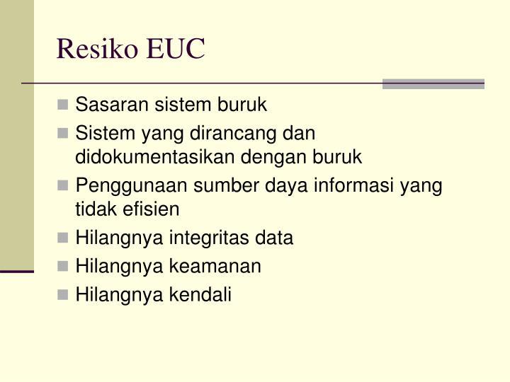 Resiko EUC