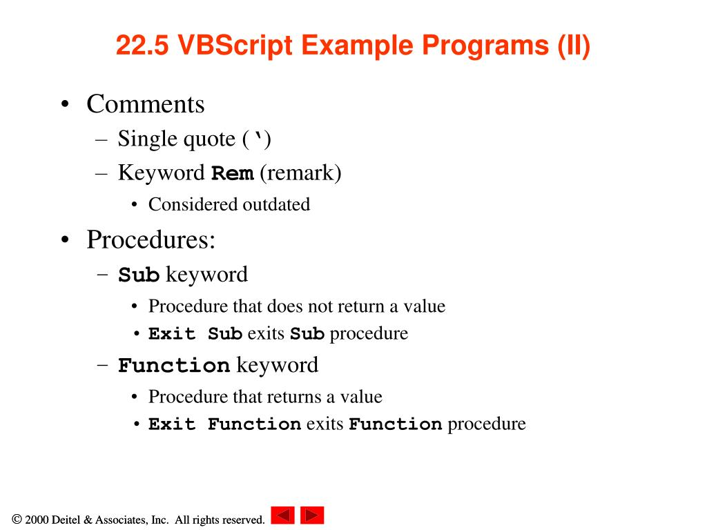 PPT - Chapter 22 – Dynamic HTML: Client-Side Scripting with VBScript