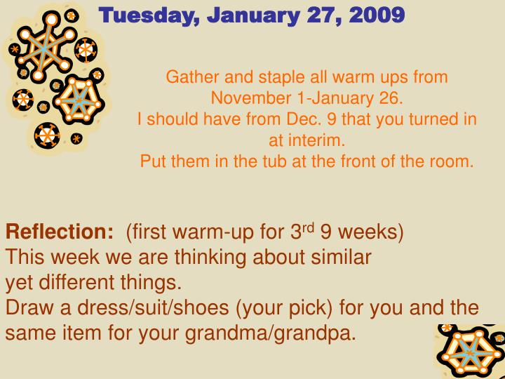Tuesday, January 27, 2009