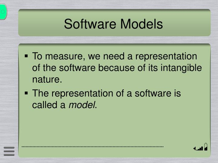Software Models