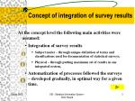 concept of integration of survey results