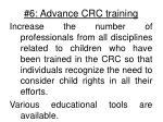 6 advance crc training