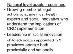 national level assets continued