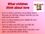 what children think about love