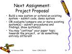 next assignment project proposal1