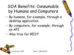 soa benefits consumable by humans and computers