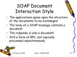 soap document interaction style