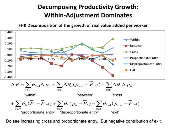 Decomposing Productivity Growth: