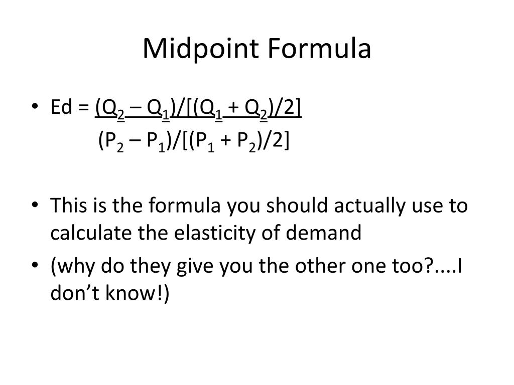 Ppt Demand And Supply Elasticities And Applications Powerpoint