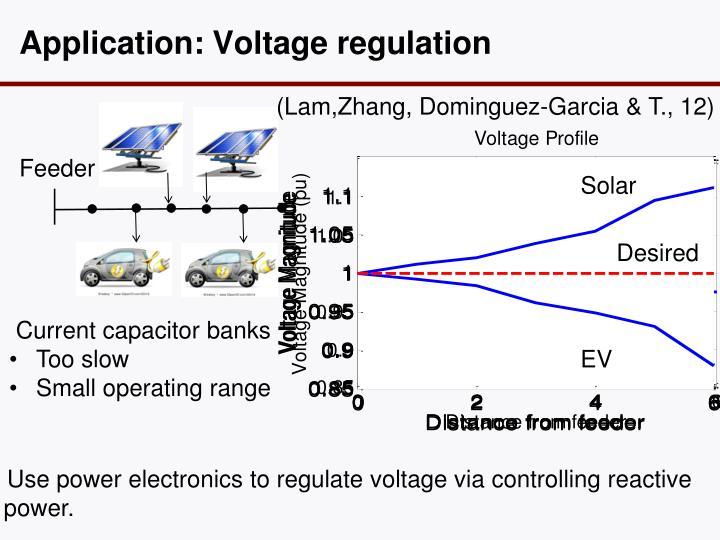 Application: Voltage regulation