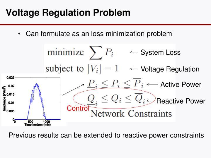 Voltage Regulation Problem