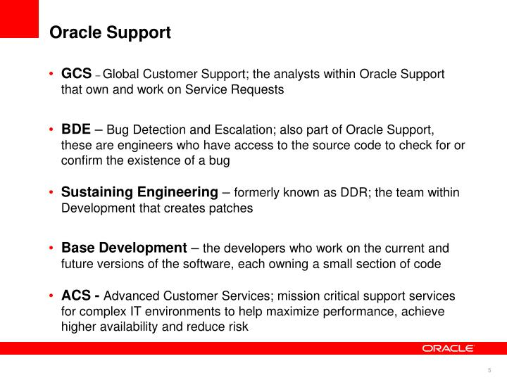 Oracle Support