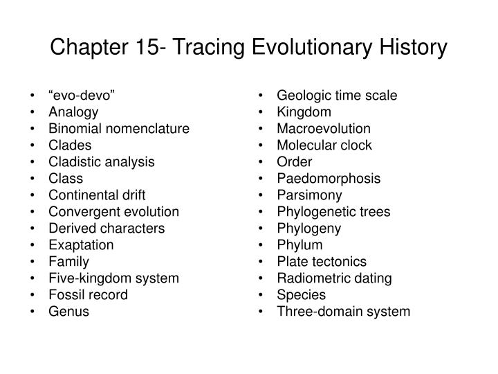 PPT - Chapter 15- Tracing Evolutionary History PowerPoint