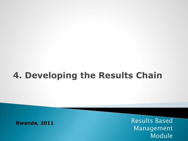 4. Developing the Results Chain