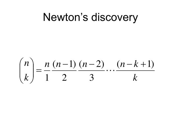 Newton's discovery