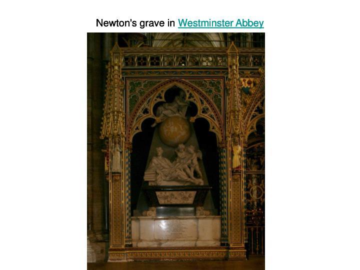 Newton's grave in