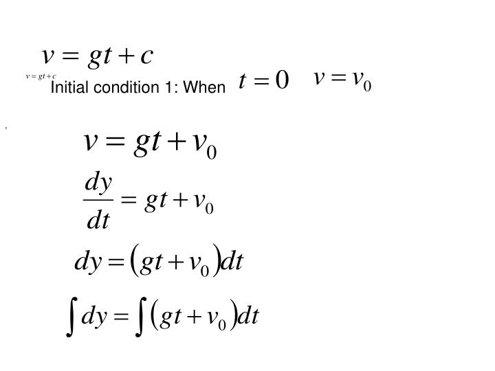 Initial condition 1: When