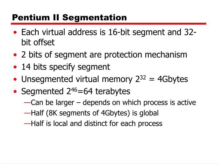 Pentium II Segmentation