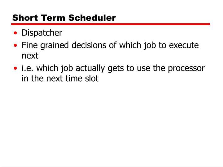 Short Term Scheduler