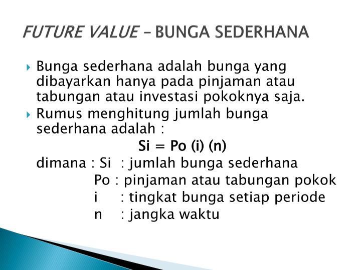 FUTURE VALUE –