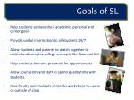 goals of sl