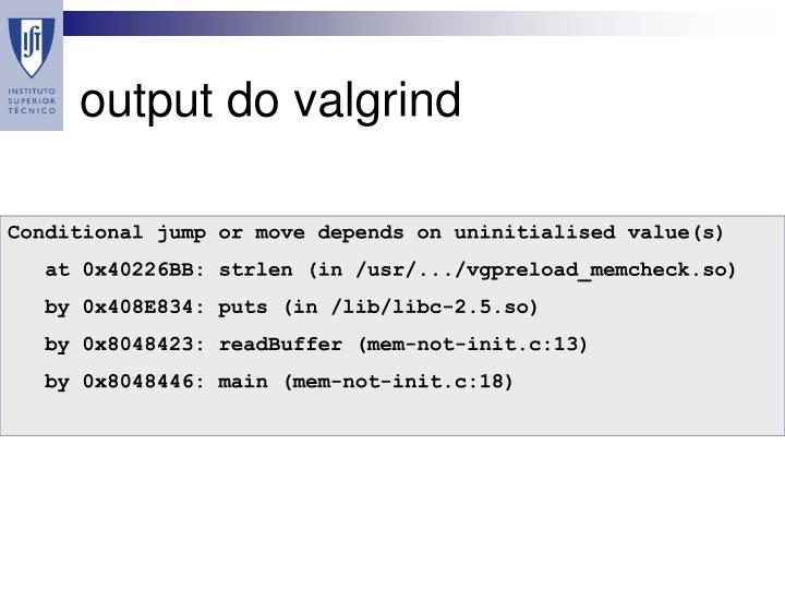 valgrind conditional jump or move depends on uninitialised value(s)