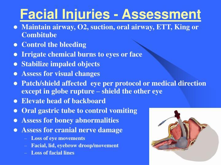 Facial Injuries - Assessment