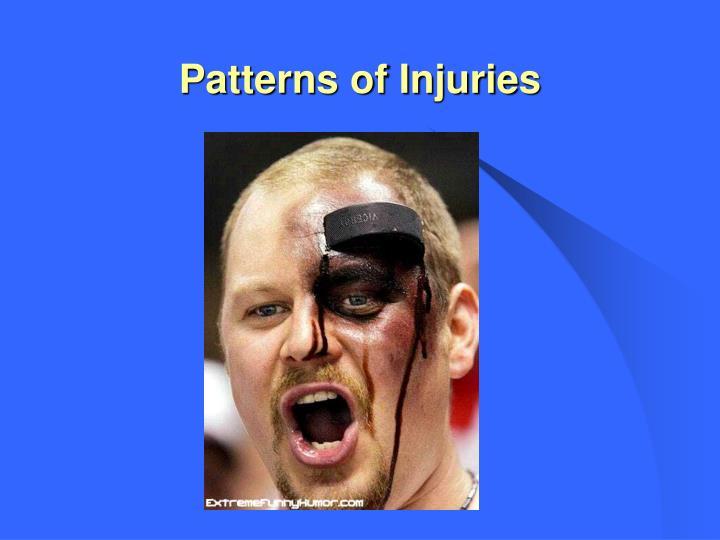Patterns of injuries