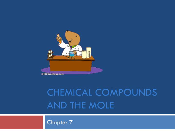 chemical compounds and the mole n.