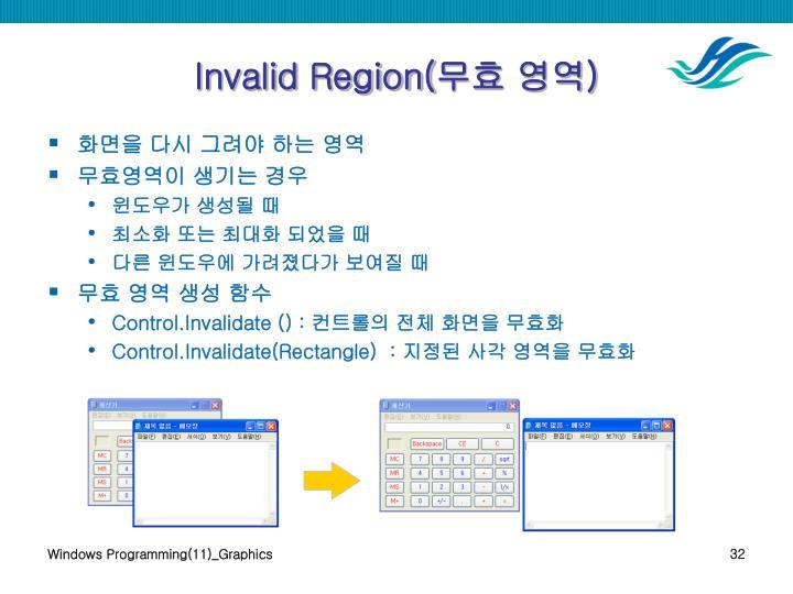 Invalid Region(