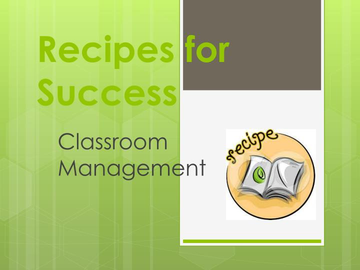 recipes for success n.