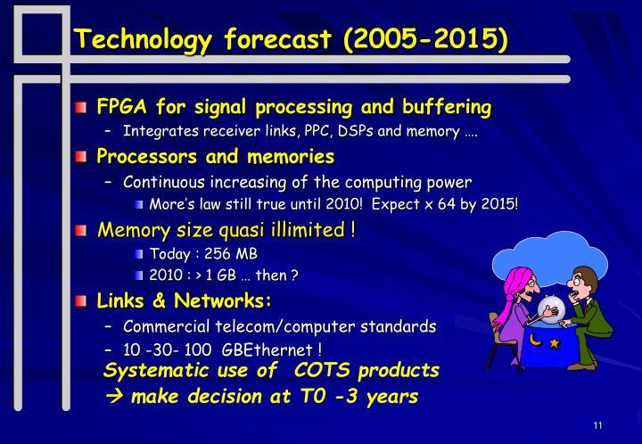 Technology forecast (2005-2015)