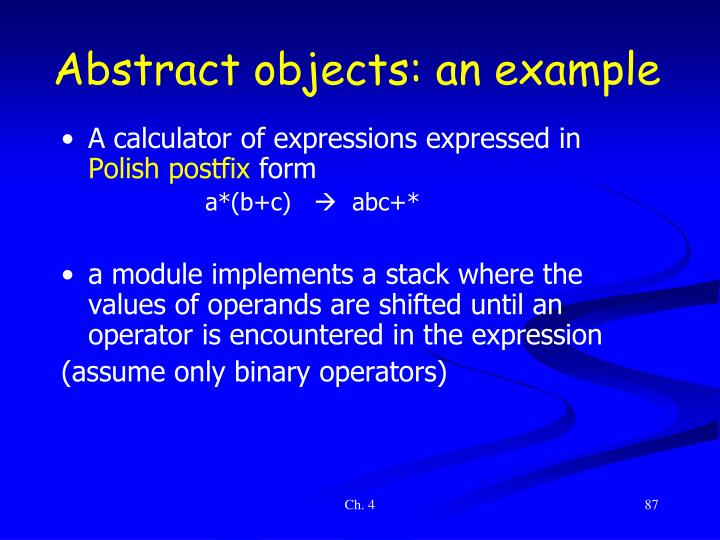 Abstract objects: an example