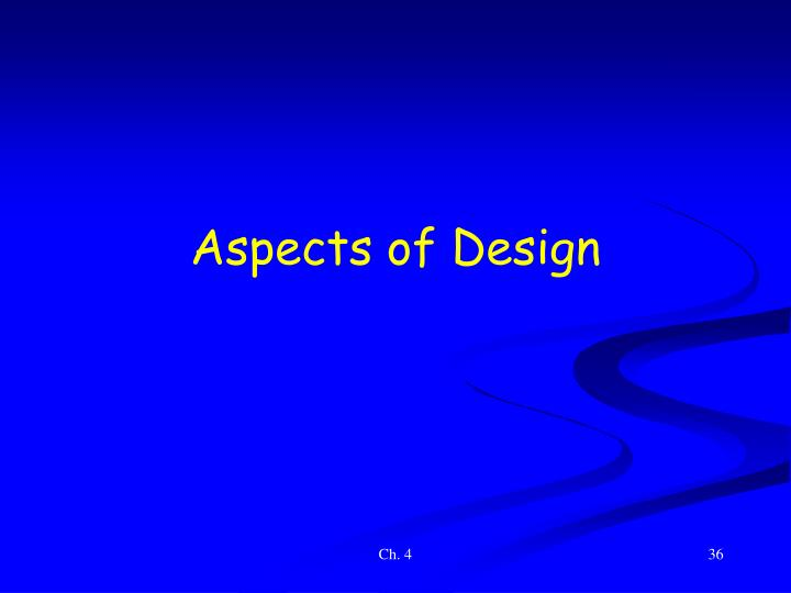 Aspects of Design