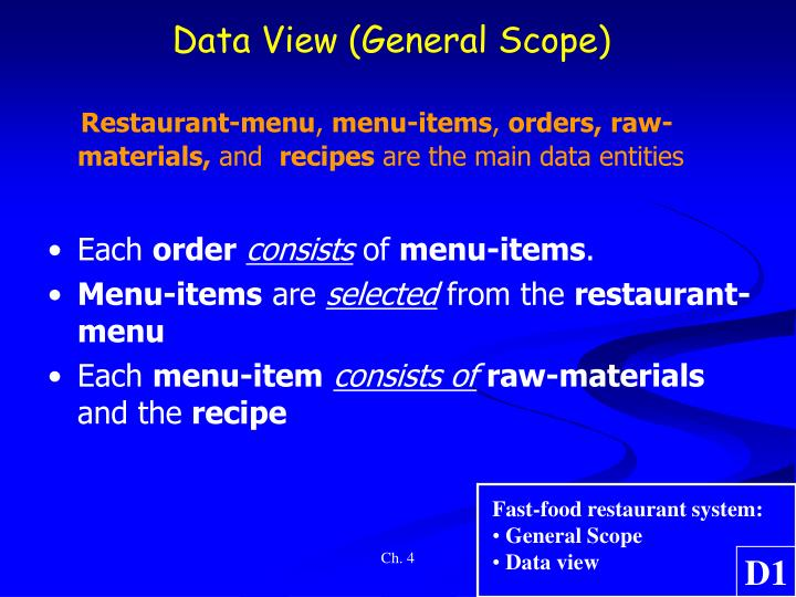 Data View (General Scope)