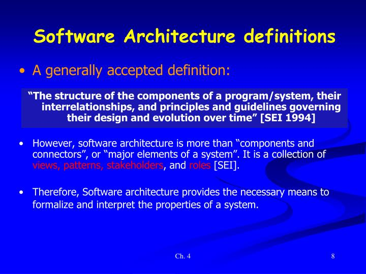 Software Architecture definition