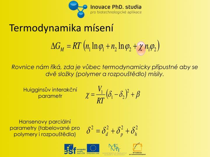 Termodynamika mísení