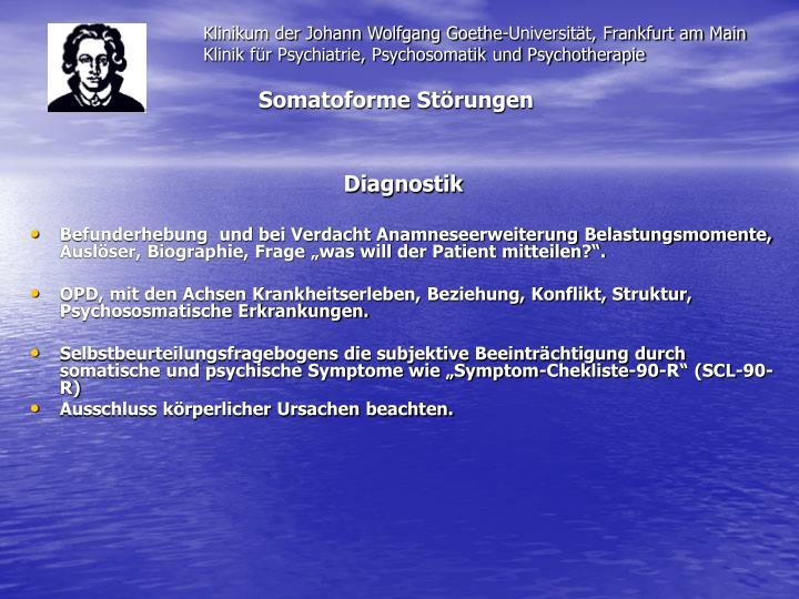 Klinikum der Johann Wolfgang Goethe-Universität, Frankfurt am Main