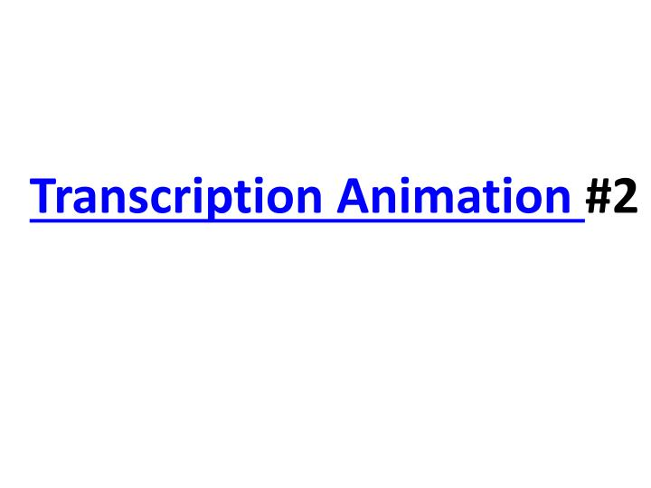 Transcription Animation