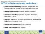 multiannual work programme and what is new life 2014 20 places stronger emphasis on