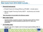 multiannual work programme and what is new new tools from 2014 2020 include