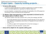 multiannual work programme and what is new project types c apacity building projects