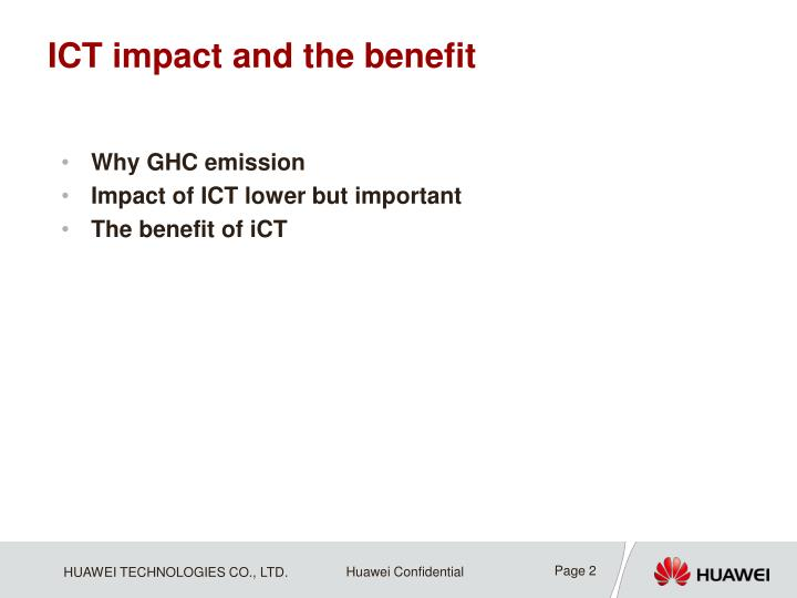 Ict impact and the benefit