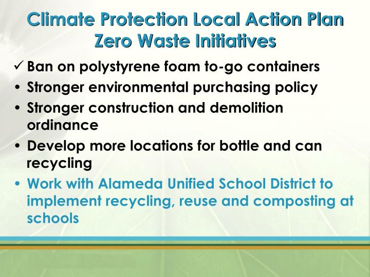 Climate Protection Local Action Plan